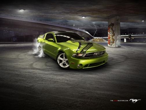 Mustang_2010_green